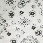 Poly Cotton Printed Fabric Paisley Bandana