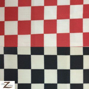 Poly Cotton Printed Fabric Square Checkered