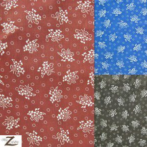 Floral Bandana Poly Cotton Fabric
