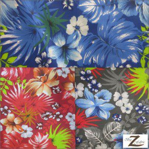 Flower Mix Poly Cotton Fabric