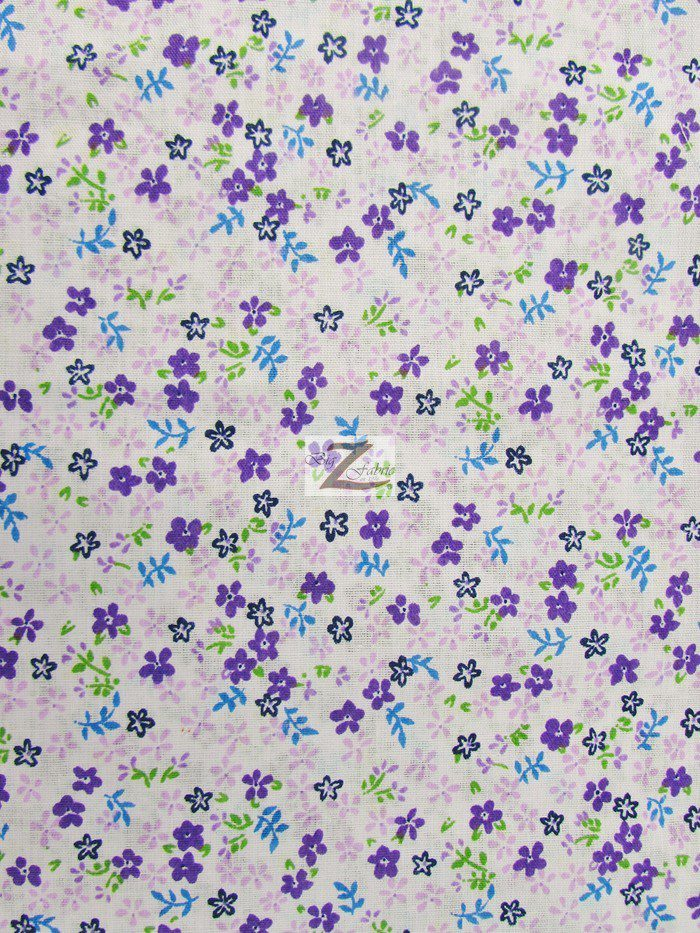 Mini flower poly cotton print fabric 100 cotton fabric for Printed cotton fabric