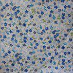Mini Flower Poly Cotton Print Fabric Blue