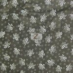 Floral Bandana Poly Cotton Fabric Black