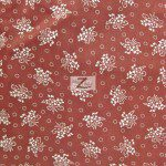 Floral Bandana Poly Cotton Fabric Blue Burgundy
