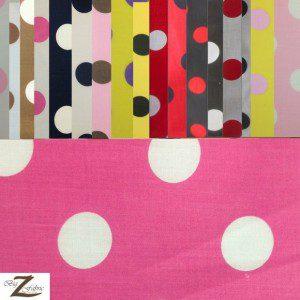 Big Polka Dot Poly Cotton Fabric