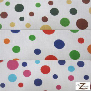 Colored Polka Dot Poly Cotton Fabric