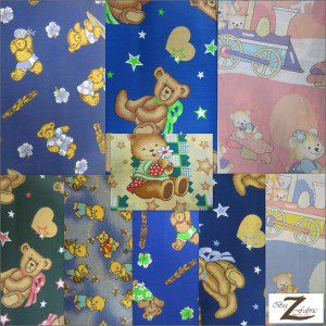 Teddy Bear Print Poly Cotton Fabric
