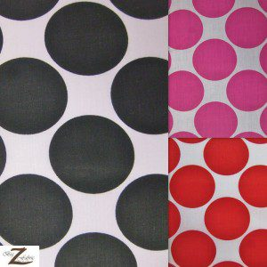 Giant Polka Dot Poly Cotton Fabric
