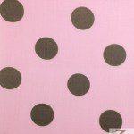 Big Polka Dot Poly Cotton Fabric Pink Brown