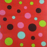 Colored Polka Dot Poly Cotton Fabric Red Mix