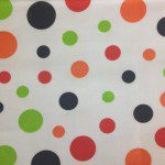 Colored Polka Dot Poly Cotton Fabric White Mix