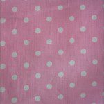 Small Polka Dot Poly Cotton Fabric Light Pink