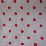 Small Polka Dot Poly Cotton Fabric White