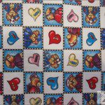 Teddy Bear Print Poly Cotton Fabric Doctor Turquoise