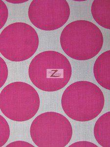 Giant Polka Dot Poly Cotton Fabric Fuchsia