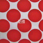 Giant Polka Dot Poly Cotton Fabric Red