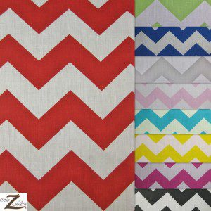 Zig Zag Chevron Poly Cotton Fabric