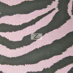 Zebra Print Poly Cotton Fabric Pink