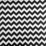 "1/2"" Zig Zag Chevron Poly Cotton Fabric Black White"