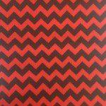 "1/2"" Zig Zag Chevron Poly Cotton Fabric Black Red"