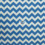 "1/2"" Zig Zag Chevron Poly Cotton Fabric Royal White"