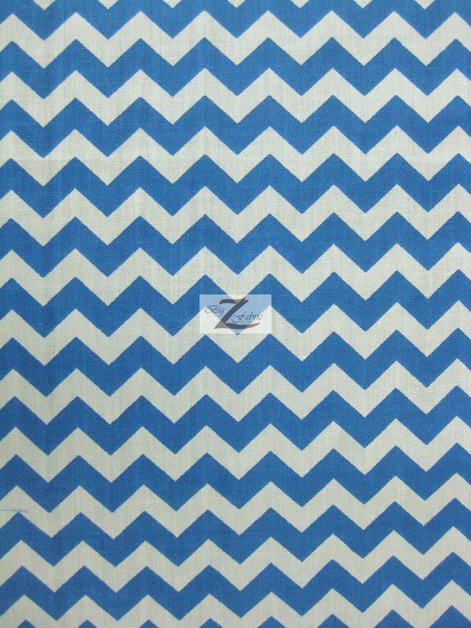 1/2″ Zig Zag Chevron Poly Cotton Fabric | 100% Cotton Fabric