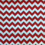 "1/2"" Zig Zag Chevron Poly Cotton Fabric Red White"
