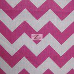1″ Zig Zag Chevron Poly Cotton Fabric Fuchsia