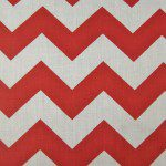 1″ Zig Zag Chevron Poly Cotton Fabric Red