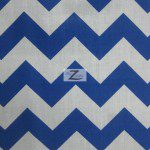 1″ Zig Zag Chevron Poly Cotton Fabric Royal Blue