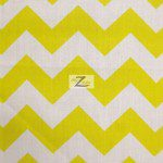 1″ Zig Zag Chevron Poly Cotton Fabric Yellow
