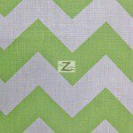 1″ Zig Zag Chevron Poly Cotton Fabric Lime