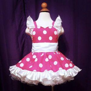 Poly Cotton Polka Dot Minnie Mouse Dress