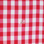 "Gingham 1"" Checkered Poly Cotton Fabric Fuchsia"
