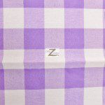 "Gingham 1"" Checkered Poly Cotton Fabric Lavender"
