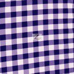 "Gingham 1"" Checkered Poly Cotton Fabric Purple"