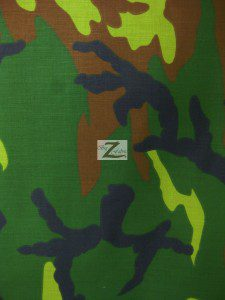Army Camouflage Poly Cotton Printed Fabric