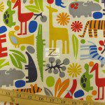 Alexander Henry Cotton Fabric 2-D Zoo
