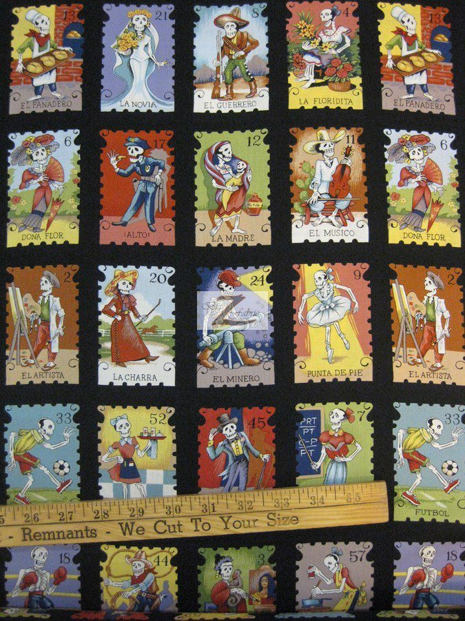 Alexander Henry Cotton Fabric Cartas Marcadas