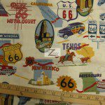 Alexander Henry Cotton Fabric Route 66 Off White