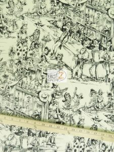 Deadwood Saloon Ivory Cotton Fabric By Alexander Henry