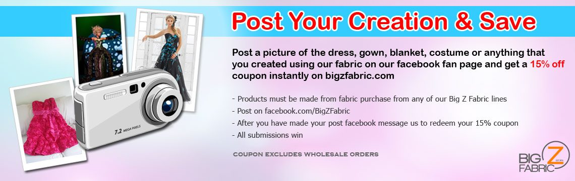 Post Your Poly Cotton Or Cotton Fabric Creation & Save