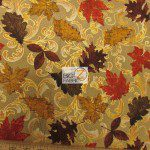 David Textiles Cotton Fabric Autumn Poetry Metallic