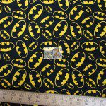 David Textiles Cotton Fabric Batman Emblem Toss