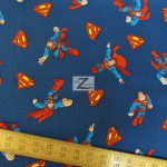 David Textiles Cotton Fabric DC Comics Superman