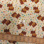 David Textiles Cotton Fabric Fun The Bear Ivory