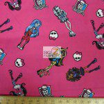 David Textiles Cotton Fabric Monster High Best Girlfriend