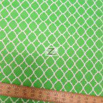 St. Patrick's Day Moroccan Cotton Fabric Green