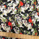 Hoffman California Cotton Fabric Panda Bamboo Buffet
