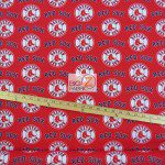 Major League Baseball Cotton Fabric Boston Red Sox Red